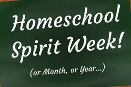 Homeschool Spirit Week